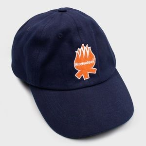 🆕 CAMP NICK BOX HAT NICKELODEON BASEBALL CAP FIRE